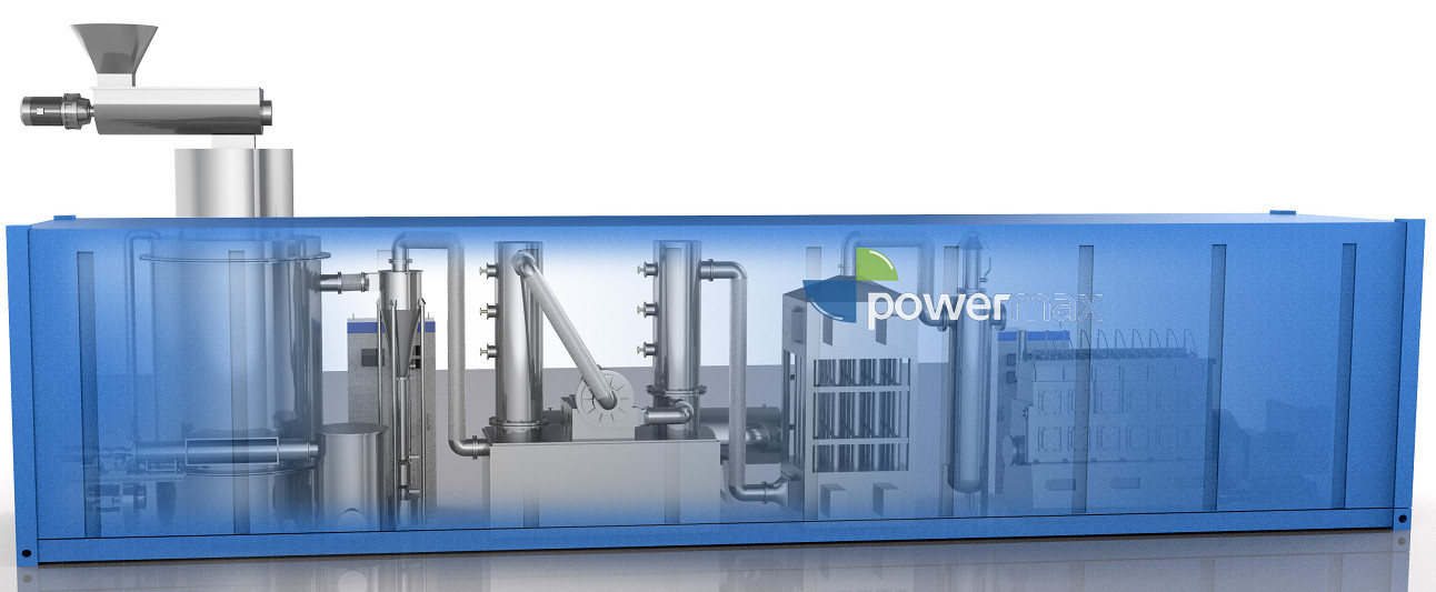 40'FCL gasification plant                                       100kw